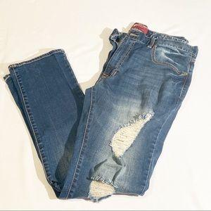 🌵Arizona Distressed Flex Denim Slim jeans 36x32
